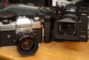 Leicaflex SL and R4S cameras
